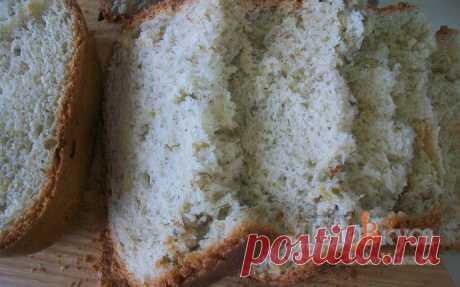 Белый хлеб с зеленью и чесноком в хлебопечке рецепт с фото