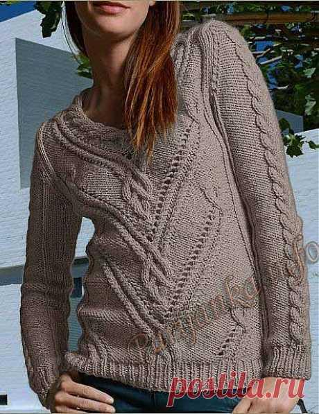 Пуловер (ж) 707 Creations 2013/2014 Bergere de France.
