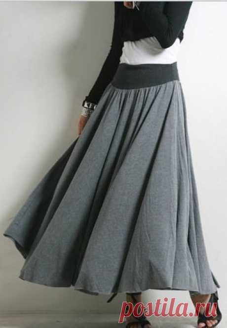 Шьем юбку на резинке. Самой простой вариант пошива.