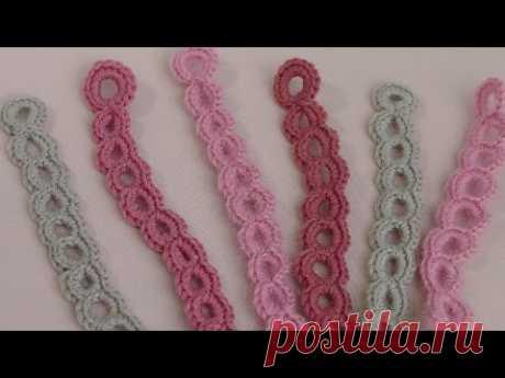 """Band hook \""""Small stalk circles\"""". Knitting lesson hook."""
