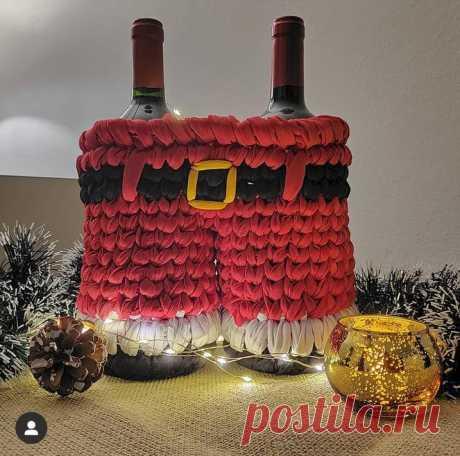 Вязание новогодних штанов Санты