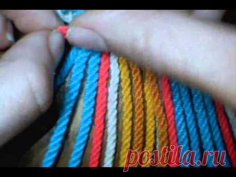 Como hacer tira, gasa, fajon wayuu 24 cordones