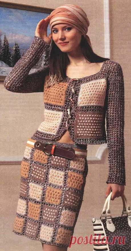 Схемы вязаных юбок, шорт, брюк крючком и спицами » Страница 3