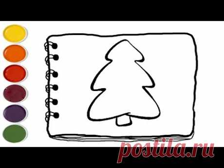 💎 Сoloring christmas tree | Coloring Pages For Kids | Kids drawing easy - YouTube