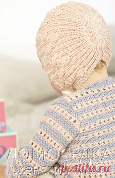 Схема вязания шапочки для девочки | ДОМОСЕДКА