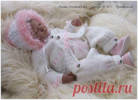 Baby Knitting Pattern Girls or Reborn от PreciousNewbornKnits