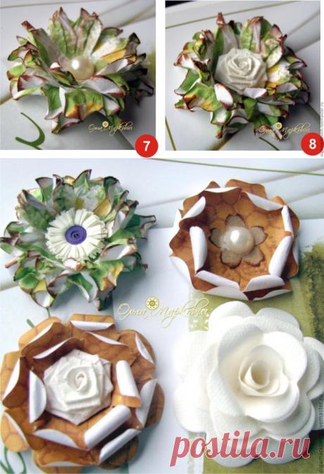 La Clase maestra por la fabricación de la flor del papel - la Feria de los Maestros - la labor a mano, handmade
