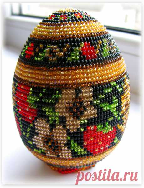 Almost Khokhloma :) | biser.info - all about beads and beaded creativity