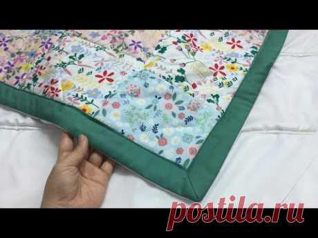 Таким же образом сшиваем зимние одеяла, простыни, ковры из ткани scrab