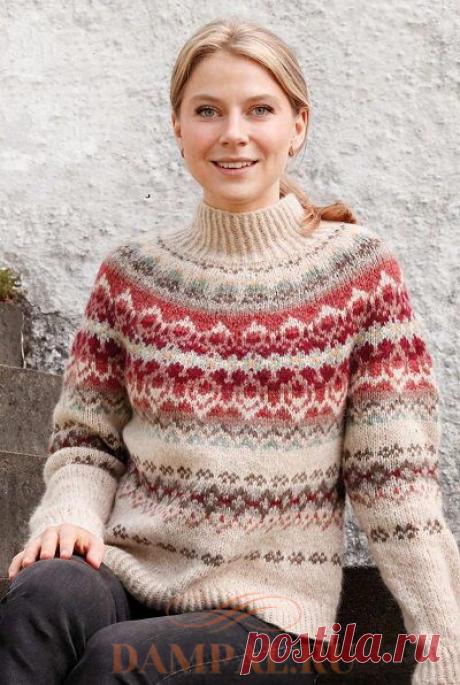 Пуловер с круглой кокеткой «Mistletoe Muse» | DAMские PALьчики. ru