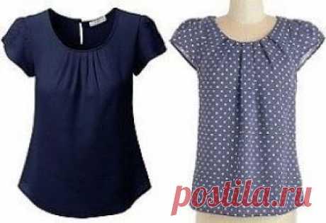 Простая выкройка блузы на каждый день (Шитье и крой)