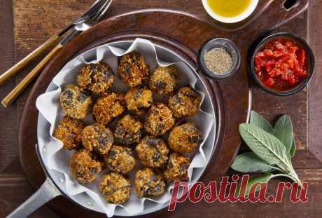 Итальянские тефтельки из баклажанов — Sloosh – кулинарные рецепты