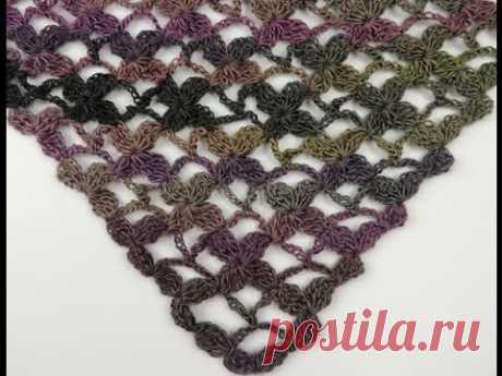 Crochet: Punto Enrejado con Flor en V # 4 En este video aprenderemos a realizar un nuevo punto en V formando flores, este tipo de puntos son especiales para hacer pañuelos, chales y cualquier trabajo...