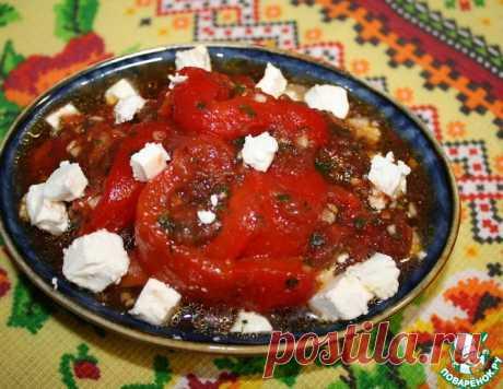 Закуска из болгарского перца и помидоров – кулинарный рецепт