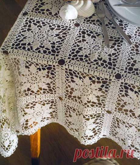 Ажурная скатерть - 4 Декабря 2011 - Блог - Вязаные вещи на заказ
