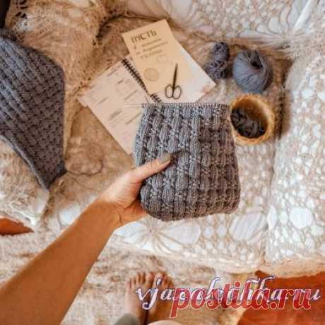 Узор - Интересная плетенка спицами