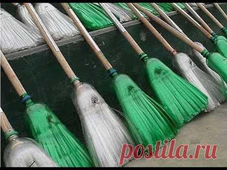 Делаем метлу из пластиковых бутылок// Making a broom out of plastic bottles