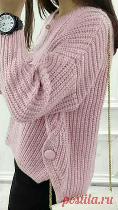 Пуговицы на изделии - это застежка и декор. Вязание спицами. | Марусино рукоделие | Яндекс Дзен