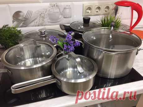 Теперь посуда у меня блестит как новая (делюсь рецептом универсального чистящего средства) | Вязание и Рукоделие | Яндекс Дзен