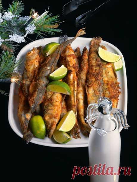 Рыба в панировке из паприки и перца