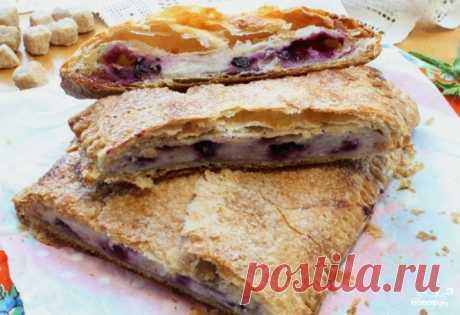 Слоеный пирог с творогом - пошаговый кулинарный рецепт с фото на Повар.ру