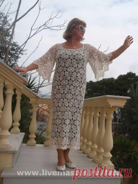 Шикарное платье, схема узора