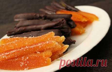 Рецепт домашних апельсиновых цукатов | Вкусные рецепты
