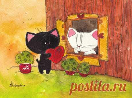 Рисованные котики Анастасии Ерёменко – Art-Dot