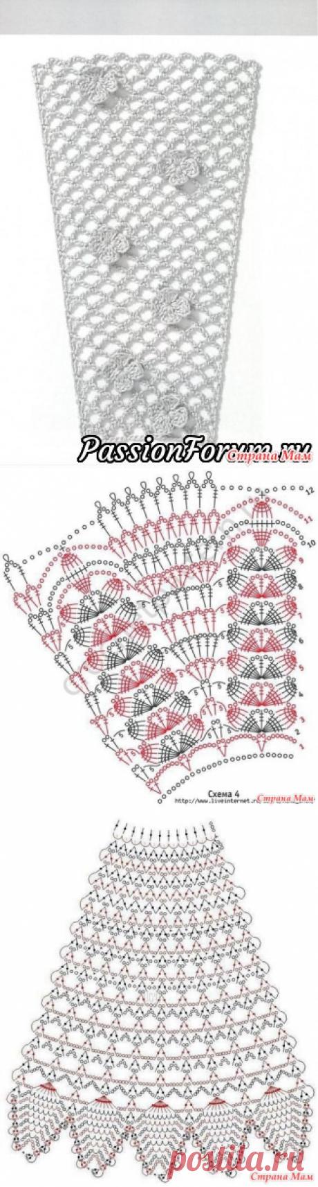 Схемы узоров для расширения полотна (крючок) 4 - Вязание - Страна Мам