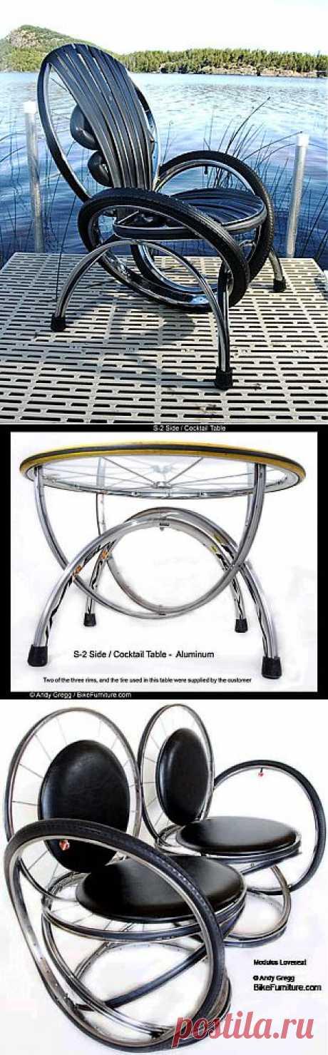 Поделки для дачи своими руками из велосипедных колес. | Загородная жизнь. Дачи