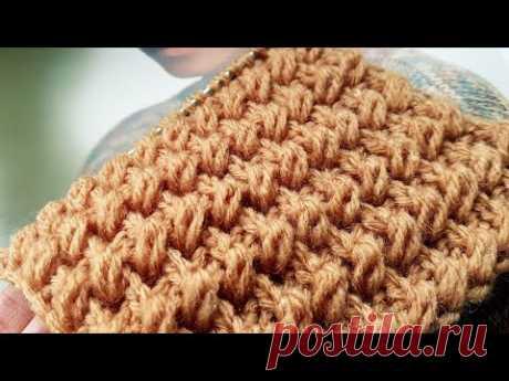 """Вяжем узор """"Кофейные зёрна"""" ☕ knitting pattern."""