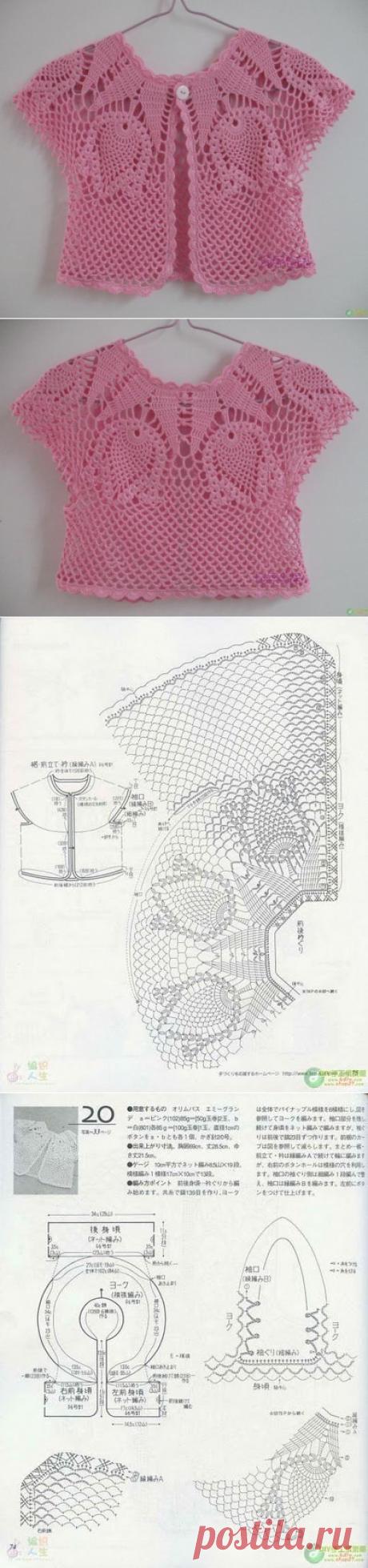 Болеро с узором тюльпаны. Как вязать ажурное болеро крючком | Лаборатория домашнего хозяйства