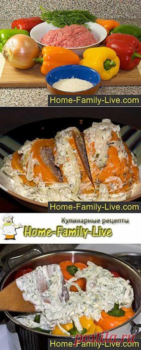 Фаршированные перцы - пошаговый фоторецепт голубцов из перца | Кулинарные рецепты