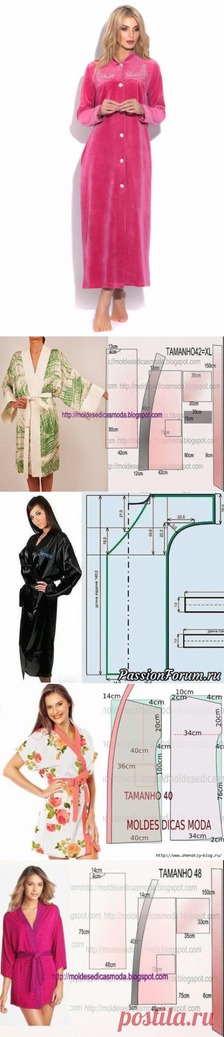 Простые выкройки домашних халатов
