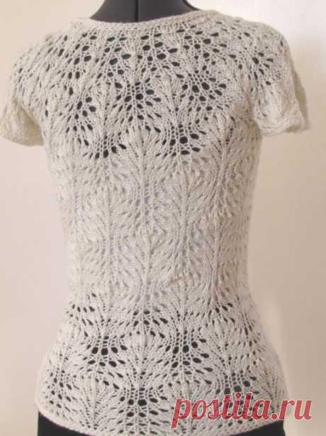Нежная блузка, вязаная спицами из категории Интересные идеи – Вязаные идеи, идеи для вязания