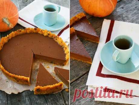 Frames of different days...: Шоколадный тарт с тыквой.