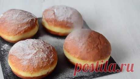 Вкуснейшие, нежнейшие пончики Берлинеры с шоколадной начинкой