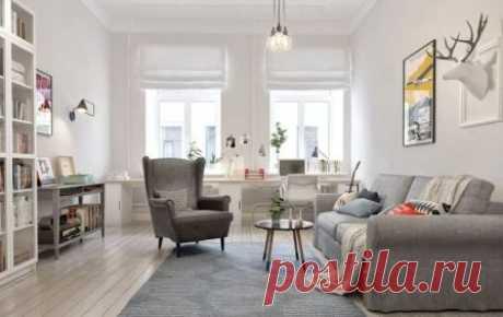 Интерьер дома или квартиры в скандинавском стиле своими руками, как оформить помещения, дизайн комнат, элементы интерьера, освещение в классическом скандинавском стиле.