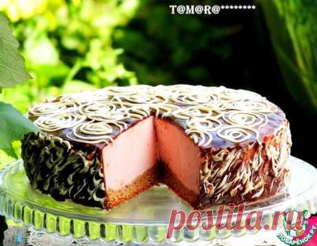 Торт с малиновым суфле – кулинарный рецепт