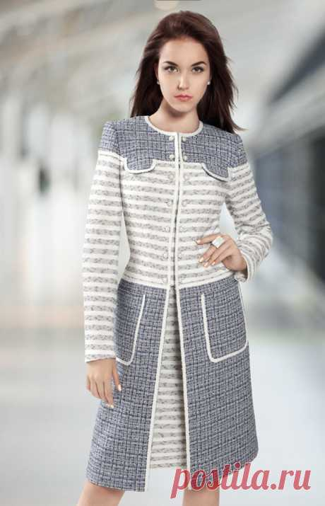Идеи комбинирования тканей для пальто