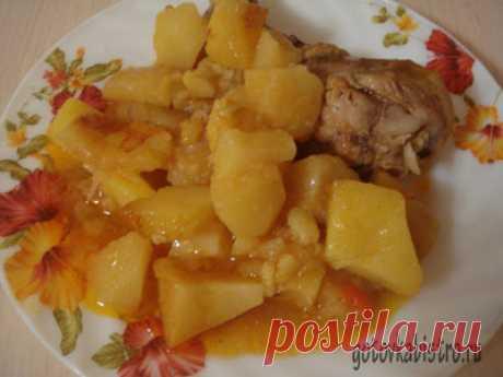 Жаркое из курицы в духовке