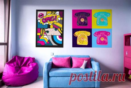 Все о стиле Поп-арт: основные цвета, мебель и материалы | Люблю Себя