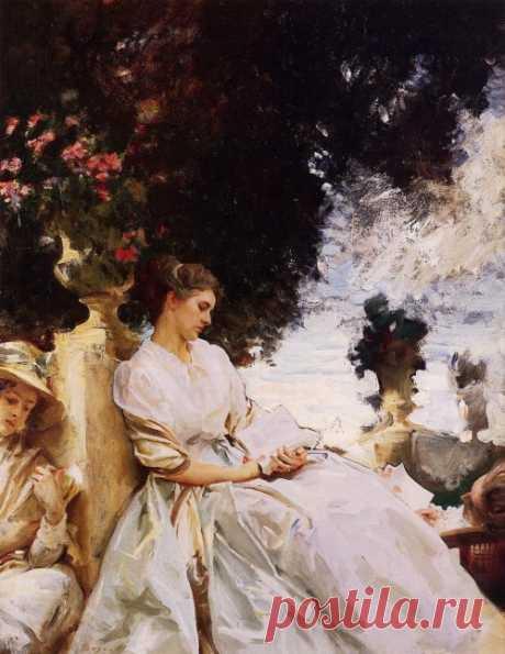 In the Garden, Corfu, 1909, John Singer Sargent