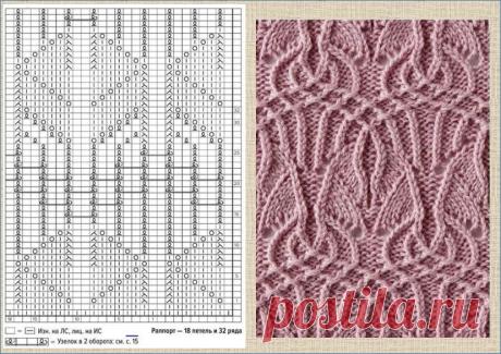 15 не легких схем для вязания сплошного полотна спицами - для пледов, шарфов, шалей и пуловеров | МНЕ ИНТЕРЕСНО | Яндекс Дзен