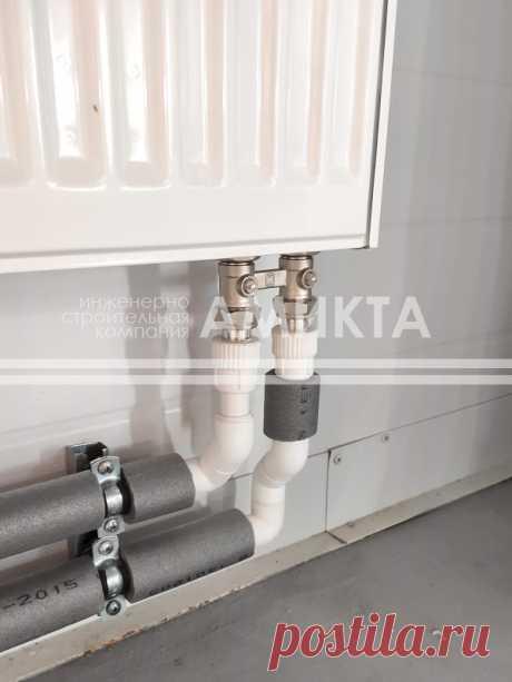 Разводка армированных труб отопления. Еще монтаж систем отопления тут - https://amikta.ru/otoplenie/montazh-otopleniya/