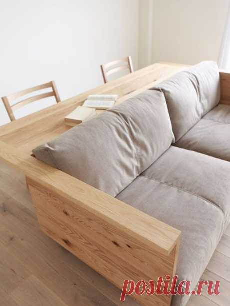CARAMELLA Counter Sofa - Soo cool. I see dinner, popcorn, and movies. Though, maybe a darker finish. | Apartment design