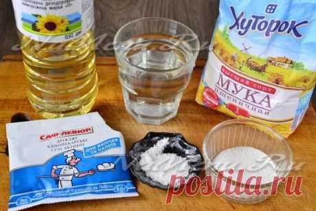 Тесто для жареных пирожков на сухих дрожжах, рецепт с фото