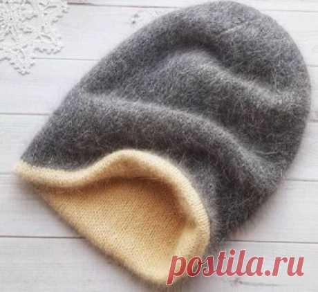 Как связать спицами двойную шапку - Modnoe Vyazanie ru.com