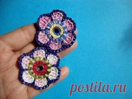 Crochet flower pattern, Flowers Knitting by a hook 62
