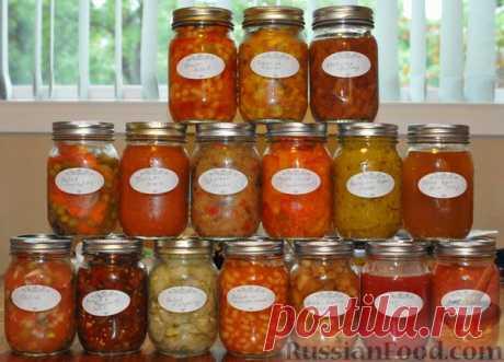 La receta: 11 recetas de los acopios diferentes en RussianFood.com